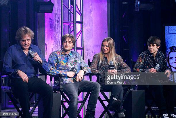 Eddie Money, Desmond Money, Julian Money and Jesse Money appear to promote family tour during the AOL BUILD Series at AOL Studios In New York on...