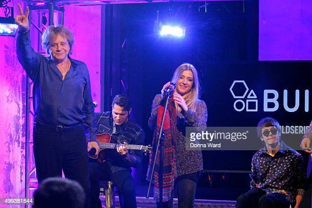 Eddie Money, Jesse Money and Julian Money appear to promote family tour during the AOL BUILD Series at AOL Studios In New York on November 30, 2015...