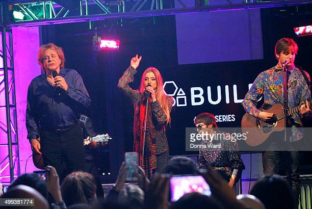Eddie Money, Jesse Money, Julian Money and Desmond Money appear to promote family tour during the AOL BUILD Series at AOL Studios In New York on...