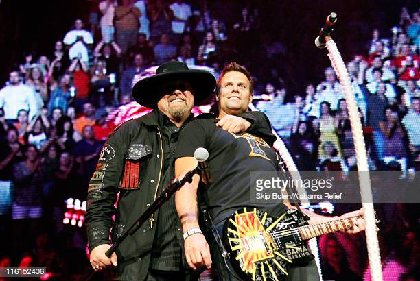 Eddie Montgomery and Troy Gentry of Montgomery Gentry perform onstage during Bama Rising A Benefit Concert For Alabama Tornado Recovery at the...