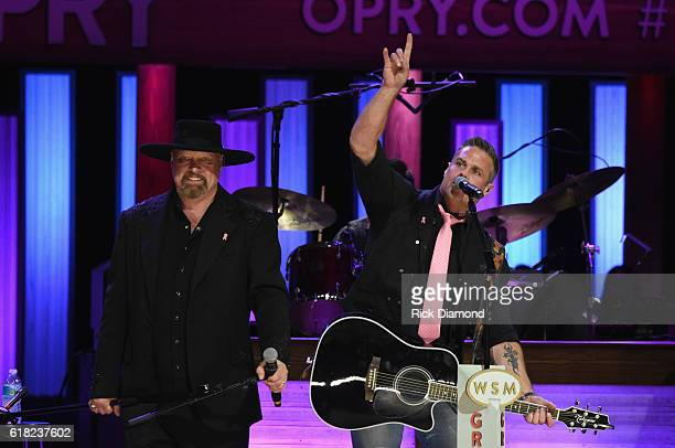Eddie Montgomery and Troy Gentry perform at Jason Aldean's 11th Annual Event Benefitting Susan G Komen As Part of 'Opry Goes Pink' Jason Aldeans...