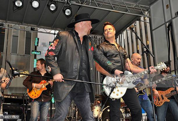 Eddie Montgomery and Troy Gentry perform during 'FOX Friends' All American Concert Series at FOX Studios on May 25 2012 in New York City