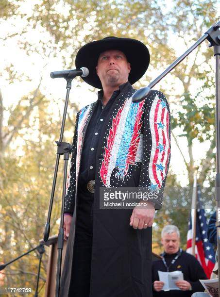 Eddie Montgomery of Montgomery Gentry during Country Takes New York City Veterans Day Ceremony Montgomery Gentry Performance at Madison Square Park...