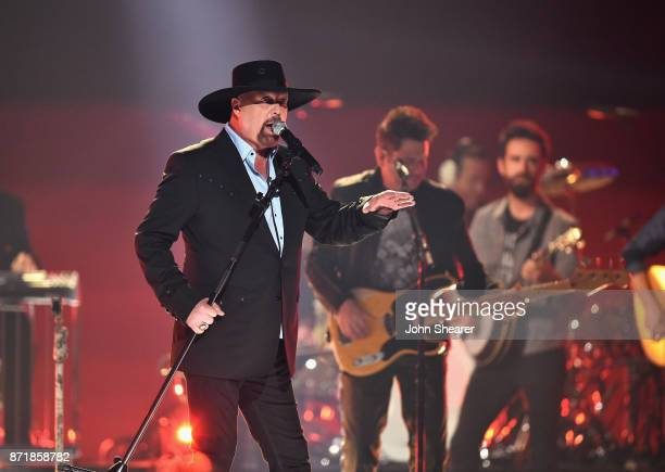 Eddie Montgomery performs onstage at the 51st annual CMA Awards at the Bridgestone Arena on November 8 2017 in Nashville Tennessee