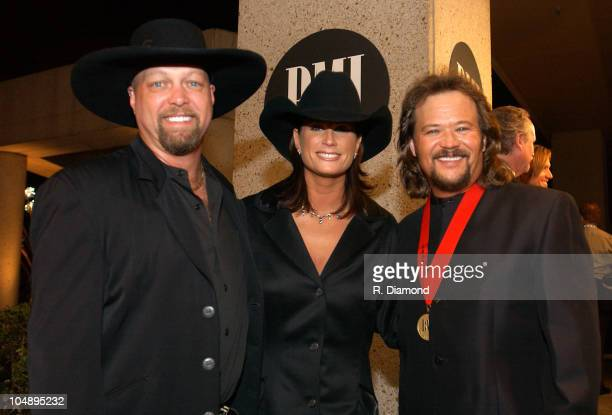 Eddie Montgomery Terri Clark and Travis Tritt during 2003 BMI Country Music Awards at BMI Nashville in Nashville Tennessee United States