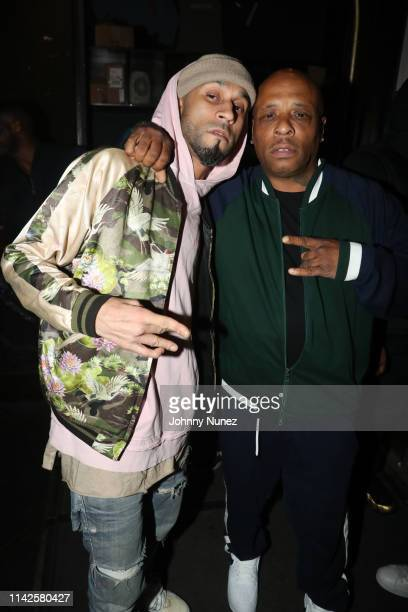 Eddie Morales and Spliff Star attend the Lyricist Lounge Reunion at Mercury Lounge on May 7 2019 in New York City