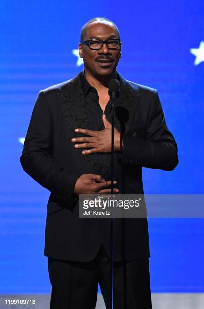 Eddie Murphy accepts the Lifetime Achievement Award onstage during the 25th Annual Critics' Choice Awards at Barker Hangar on January 12, 2020 in...