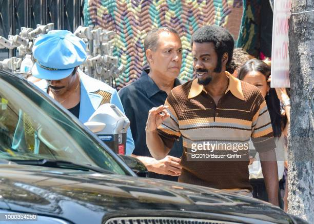 EXCLUSIVE Eddie Murphy and Chris Rock are seen on July 16 2018 in Los Angeles California