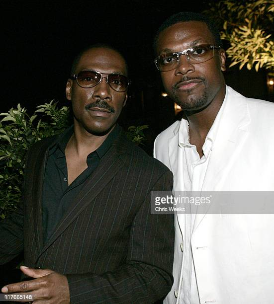 Eddie Murphy and Chris Tucker during 6th Annual MercedesBenz DesignCure Inside at Private Residence in Pacific Palisades California United States
