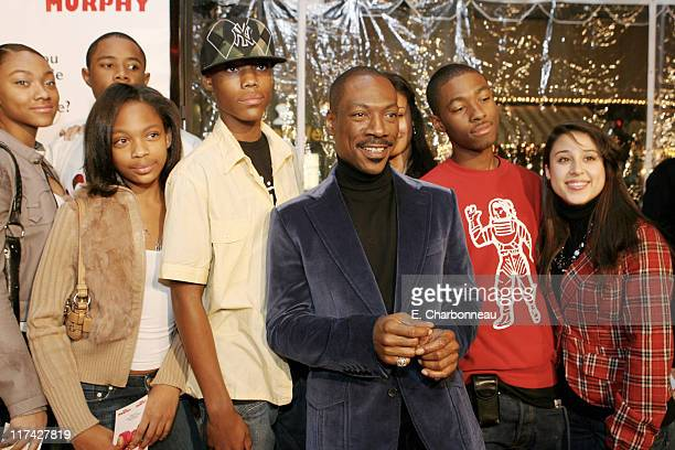 Eddie Murphy and Family during Los Angeles Premiere of DreamWorks Pictures' NORBIT at The Village in Westwood California United States