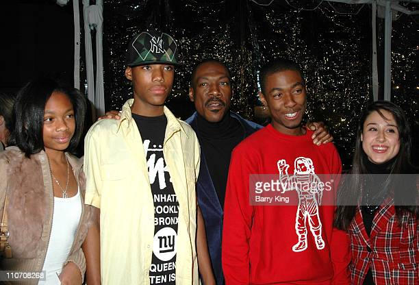 Eddie Murphy and family during Norbit Los Angeles Premiere at Mann Village in Westwood California United States