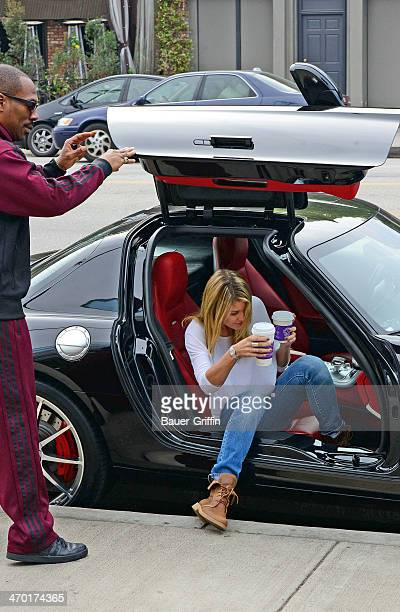 Eddie Murphy and his girlfriend Paige Butcher are seen on February 18 2014 in Los Angeles California