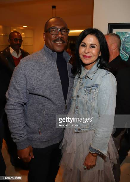 Eddie Murphy and Maria Conchita Alonso attend the Dolemite Is My Name LA AMPAS Hosted Tastemaker at ROSS HOUSE on November 21 2019 in Los Angeles...