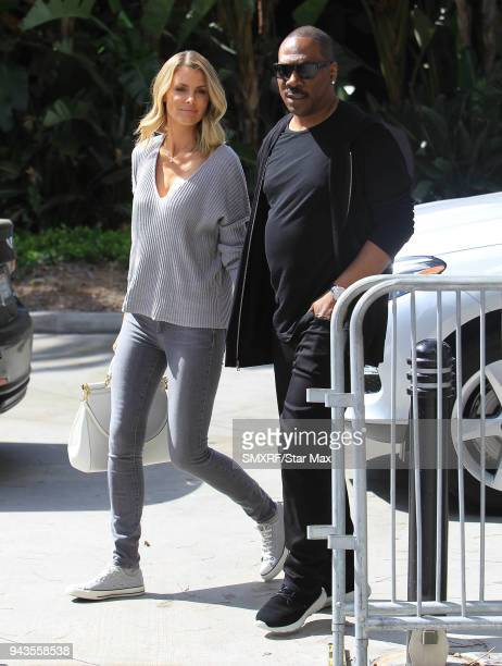 Eddie Murphy and Paige Butcher are seen on April 8 2018 in Los Angeles California