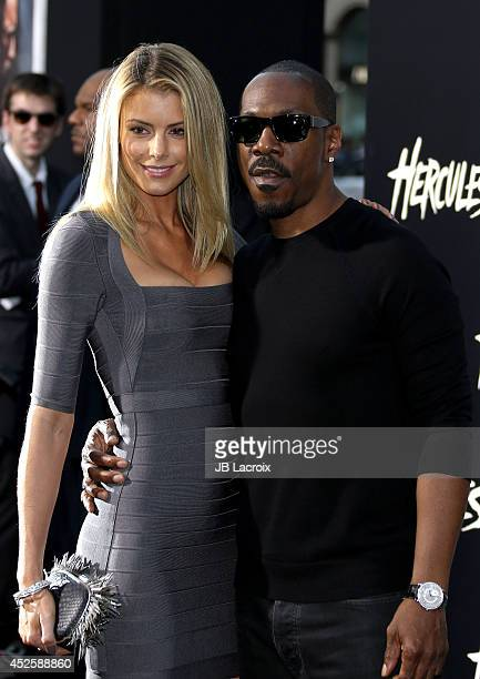 Eddie Murphy and Paige Butcher attend the Hercules Los Angeles Premiere on July 23 2014 at the TCL Chinese Theatre in Hollywood California