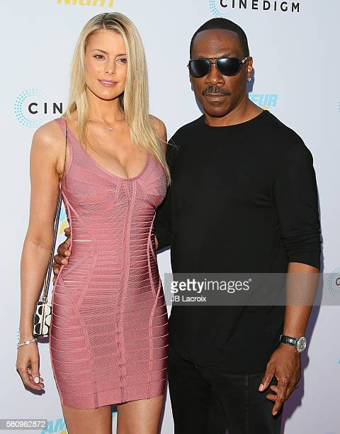 Eddie Murphy and Paige Butcher attend the premiere of Cinedigm's 'Amateur Night' on July 25 2016 in Hollywood California