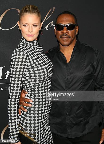 Eddie Murphy and Paige Butcher attend the premiere of Cinelou Releasing's 'Mr Church' on September 6 2016 in Hollywood California