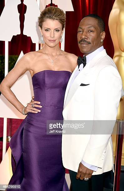 Eddie Murphy and Paige Butcher attends the 87th Annual Academy Awards at Hollywood Highland Center on February 22 2015 in Hollywood California