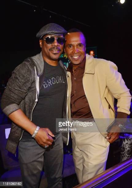 Eddie Murphy and Sugar Ray Leonard attend Sugar Ray Leonard Foundation's 10th Annual 'Big Fighters Big Cause' Charity Boxing Night Presented by B...