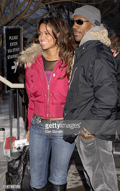 Eddie Murphy and Tracey Edmonds during 2007 Sundance Film Festival 'If I Had Known I Was a Genius' Premiere at Library Center Theatre in Park City...
