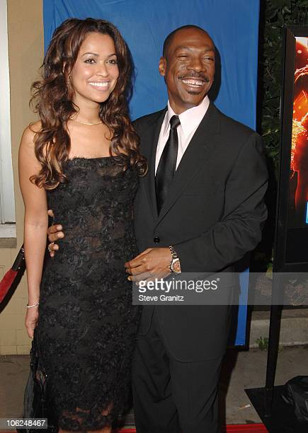 Eddie Murphy and Tracey Edmonds during 'Dreamgirls' Los Angeles Premiere Arrivals at Wilshire Theatre in Beverly Hills California United States