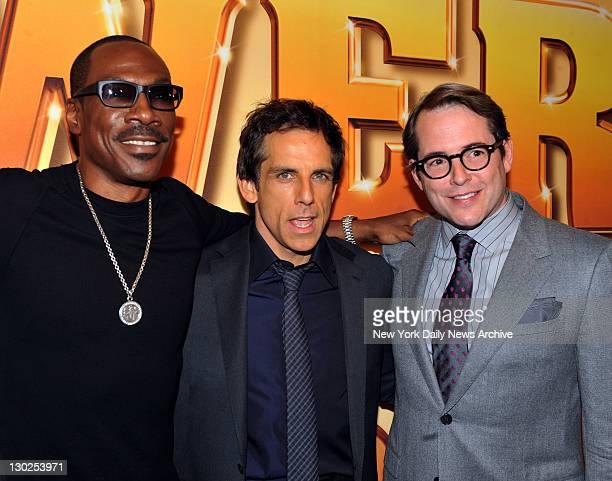 "Eddie Murphy, Ben Stiller and Mathew Broderick show up for premiere of the movie ""Tower Heist' at the Ziegfeld Theater."
