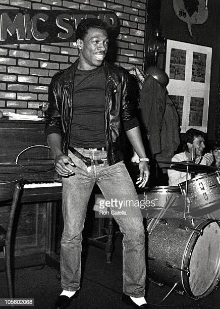 Eddie Murphy during Eddie Murphy Performs at The Comic Strip - October 6, 1984 at Comic Strip in New York City, New York, United States.
