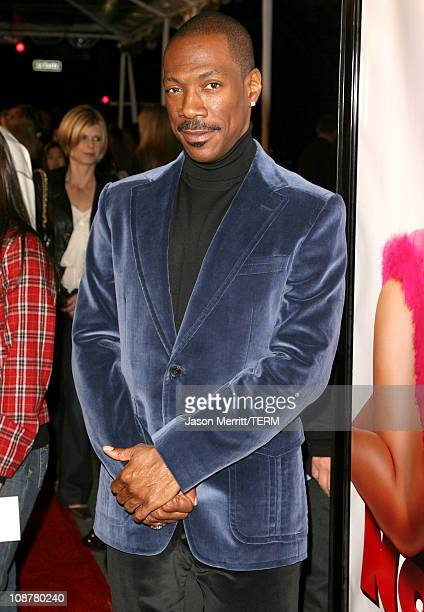 Eddie Murphy during Norbit Los Angeles Premiere Red Carpet at Mann Village Theatre in Westwood California United States