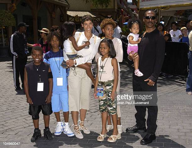 Eddie Murphy family during Premiere of Shrek 4D Attraction at Universal Studios Hollywood Arrivals at Universal Studios in Universal City California...