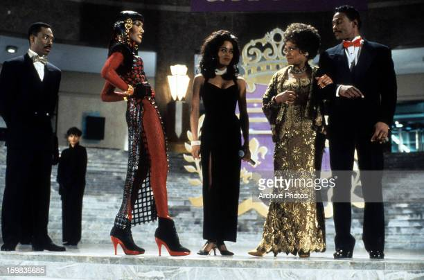 Eddie Murphy Grace Jones and Robin Givens in a scene from the film 'Boomerang' 1992