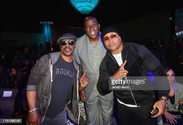 Eddie Murphy Magic Johnson and LL Cool J attend Sugar Ray Leonard Foundation's 10th Annual 'Big Fighters Big Cause' Charity Boxing Night Presented by...