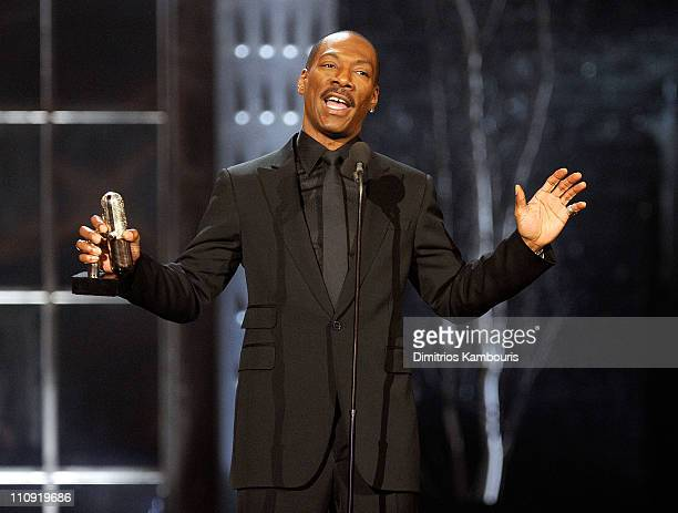 Eddie Murphy speaks onstage at the First Annual Comedy Awards at Hammerstein Ballroom on March 26 2011 in New York City