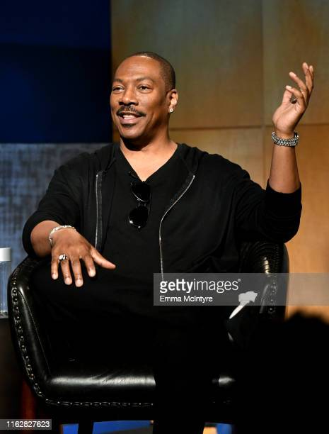 Eddie Murphy speaks onstage during the LA Tastemaker event for Comedians in Cars at The Paley Center for Media on July 17 2019 in Beverly Hills City