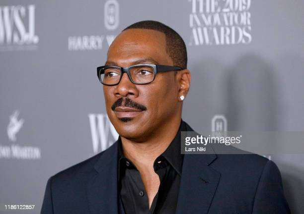 Eddie Murphy speaks onstage during WSJ Magazine 2019 Innovator Awards Sponsored By Harry Winston And Rémy Martin at MOMA on November 06 2019 in New...