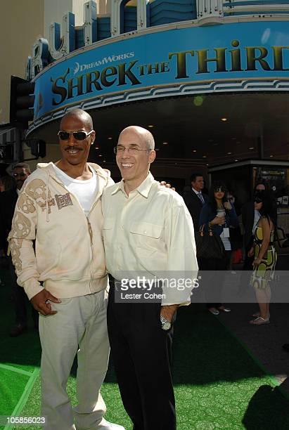 Eddie Murphy with Jeffrey Katzenberg of DreamWorks