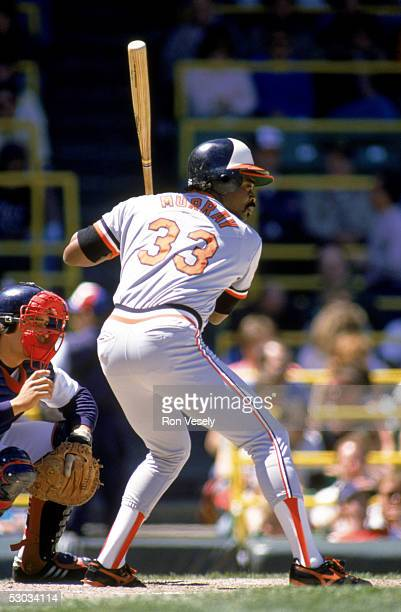 Eddie Murray readies for the pitch during a season game circa 1977 Eddie Murray played for the Baltimore Orioles from 19771988