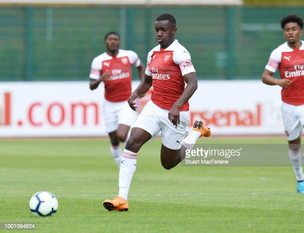 Alex Lacazette of Arsenal during a pre season friendley between Arsenal and Crawley Town at London Colney on July 18 2018 in St Albans England