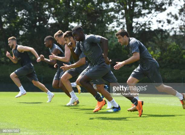 Eddie Nketiah of Arsenal during a training session at London Colney on July 6 2018 in St Albans England