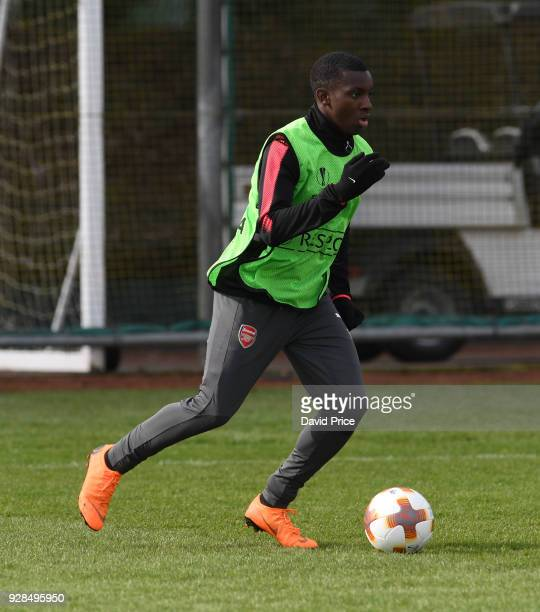 Eddie Nketiah of Arsenal during the Arsenal Training Session at London Colney on March 7 2018 in St Albans England