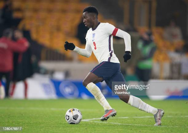 Eddie Nketiah of England during the UEFA Euro Under 21 Qualifier match between England U21 and Turkey U21 at Molineux on October 13 2020 in...