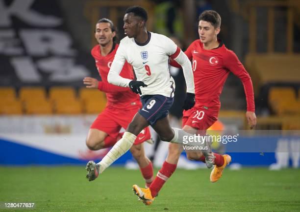 Eddie Nketiah of England scores the goal that makes him England's highest goalscorer at U21 level during the UEFA Euro Under 21 Qualifier match...