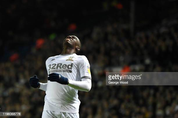 Eddie Nketiah of Leeds United reacts during the Sky Bet Championship match between Leeds United and Preston North End at Elland Road on December 26,...