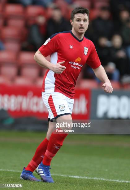 Eddie Nolan of Crewe Alexandra in action during the Sky Bet League Two match between Crewe Alexandra and Northampton Town at Gresty Road on March 02...