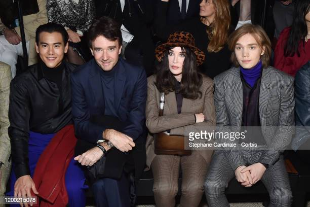 Eddie Peng General manager of Berluti Antoine Arnault Isabelle Adjani and Charlie Plummer attend the Berluti Menswear Fall/Winter 20202021 show as...