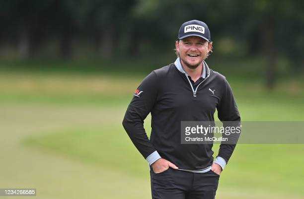 Eddie Pepperell during the Pro Am event at The ISPS HANDA World Invitational at on July 28, 2021 in Ballymena, United Kingdom.
