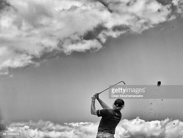 Eddie Pepperell of England hits his second shot on the 4th hole during Day 3 of the Open de Espana held at PGA Catalunya Resort on May 17 2014 in...
