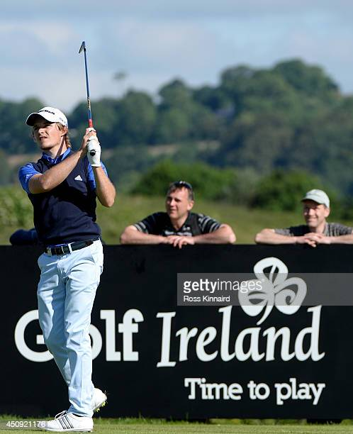 Eddie Pepperell of England in action during the second round of the Irish Open at the Fota Island Resort on June 20 2014 in Cork Ireland