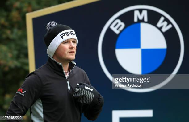 Eddie Pepperell of England looks on during Day Three of the BMW PGA Championship at Wentworth Golf Club on October 10 2020 in Virginia Water England
