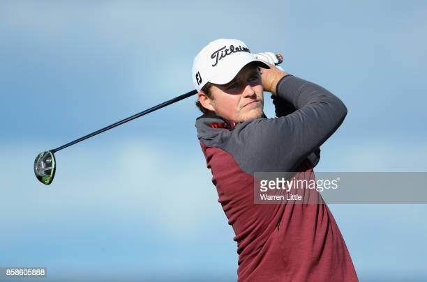 Eddie Pepperell of England on the 15th tee during day three of the 2017 Alfred Dunhill Championship at The Old Course on October 7 2017 in St Andrews...