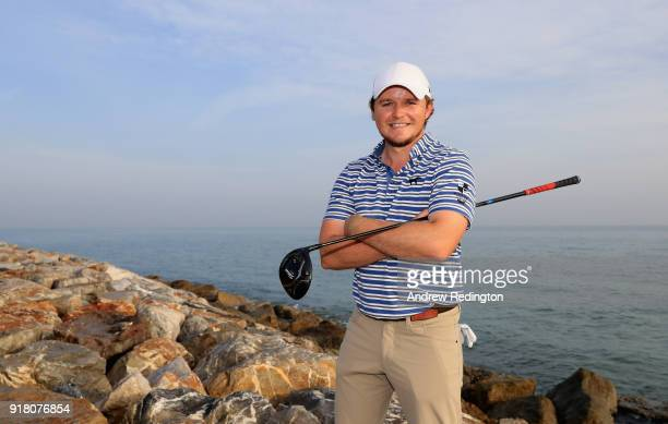 Eddie Pepperell of England poses for a portrait during the Pro Am prior to the start of the NBO Oman Open at Al Mouj Golf on February 14 2018 in...